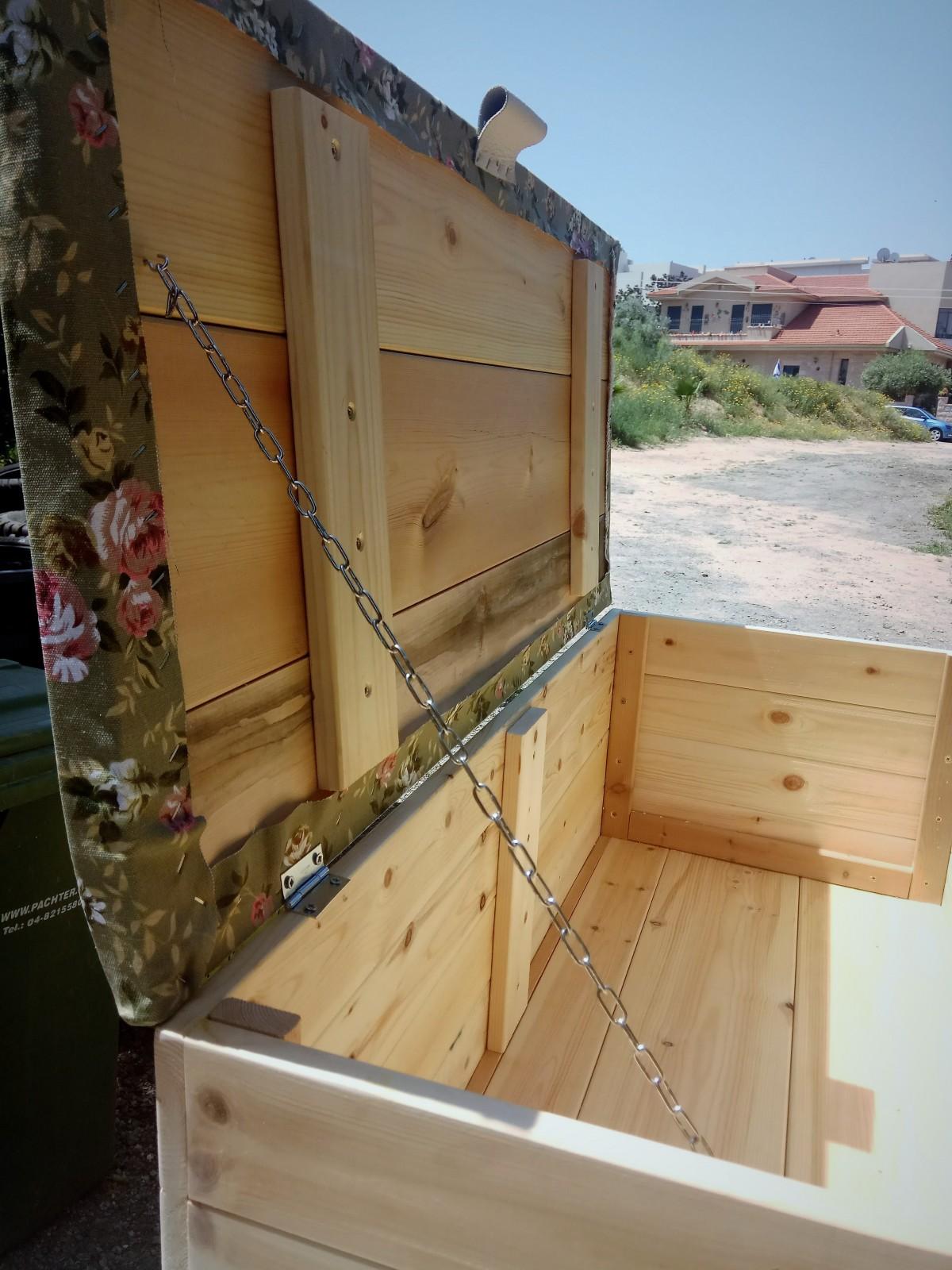 תיבת עץ אחסון-בהזמנה